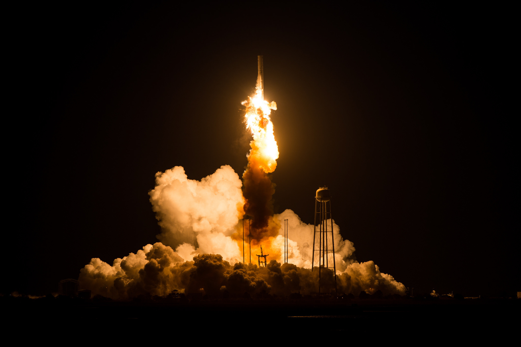 The Orbital ATK Antares rocket exploded moments after launch on October 28, 2014.