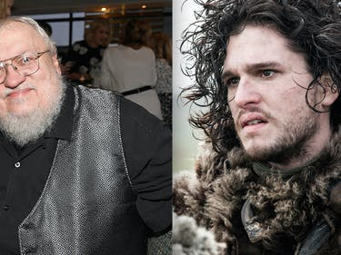 George R R Martin and Jon Snow