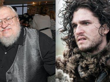 George R R Martin and Jon Snow