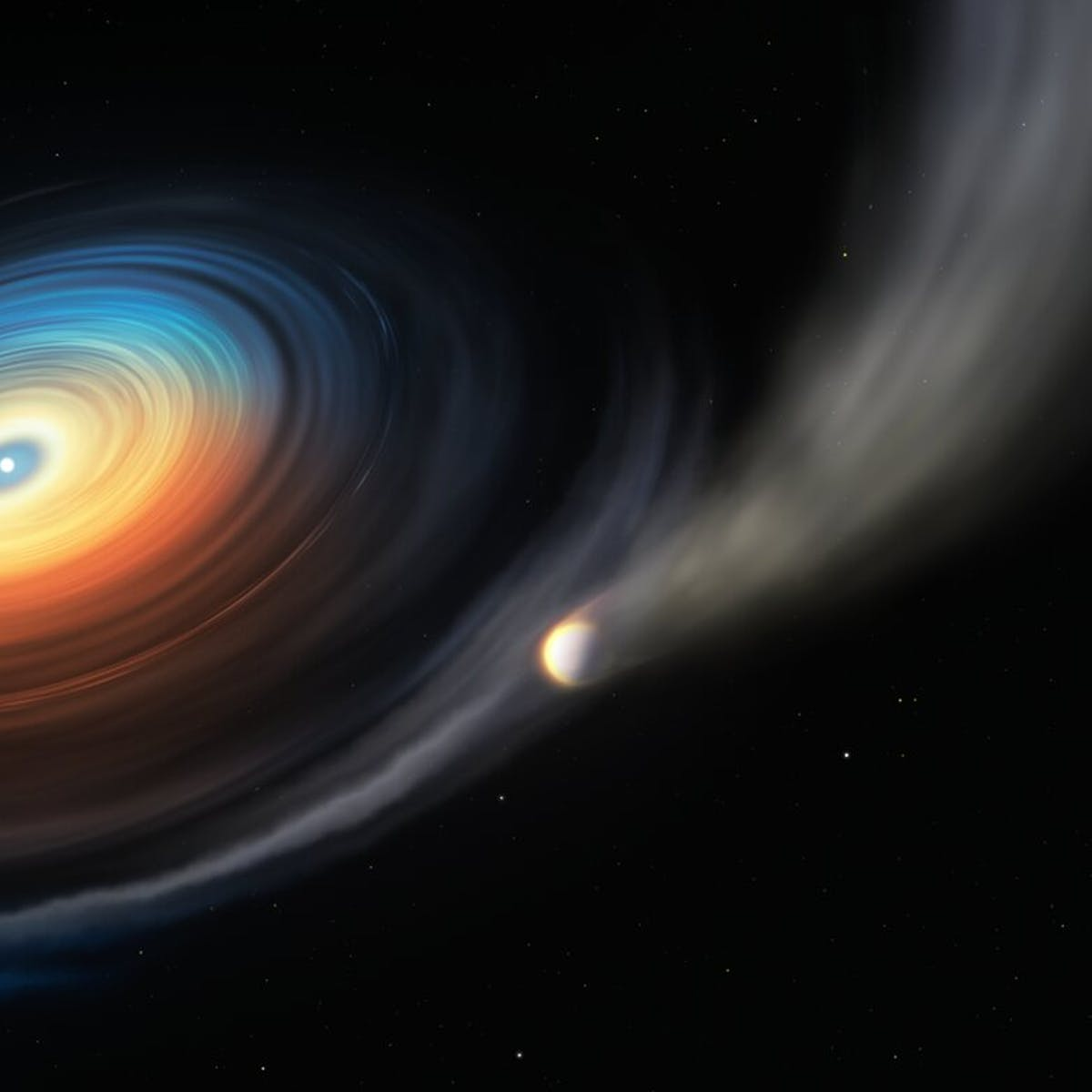 Astronomers discover a giant planet orbiting around a tiny, dying star