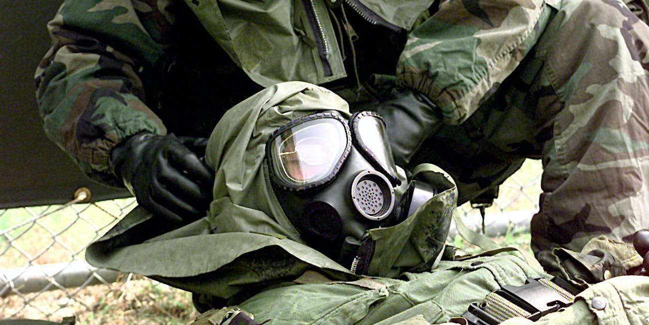 Army practices simulated gas attack protocol in 1998
