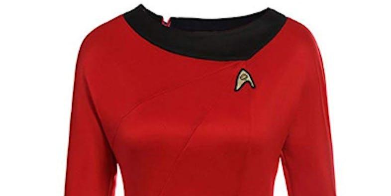 Classic Star Trek Dress Costume Adult Duty Women Uniform