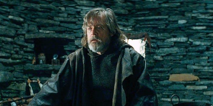Luke Skywalker (Mark Hamill) in 'Star Wars: The Last Jedi' Deleted Scene