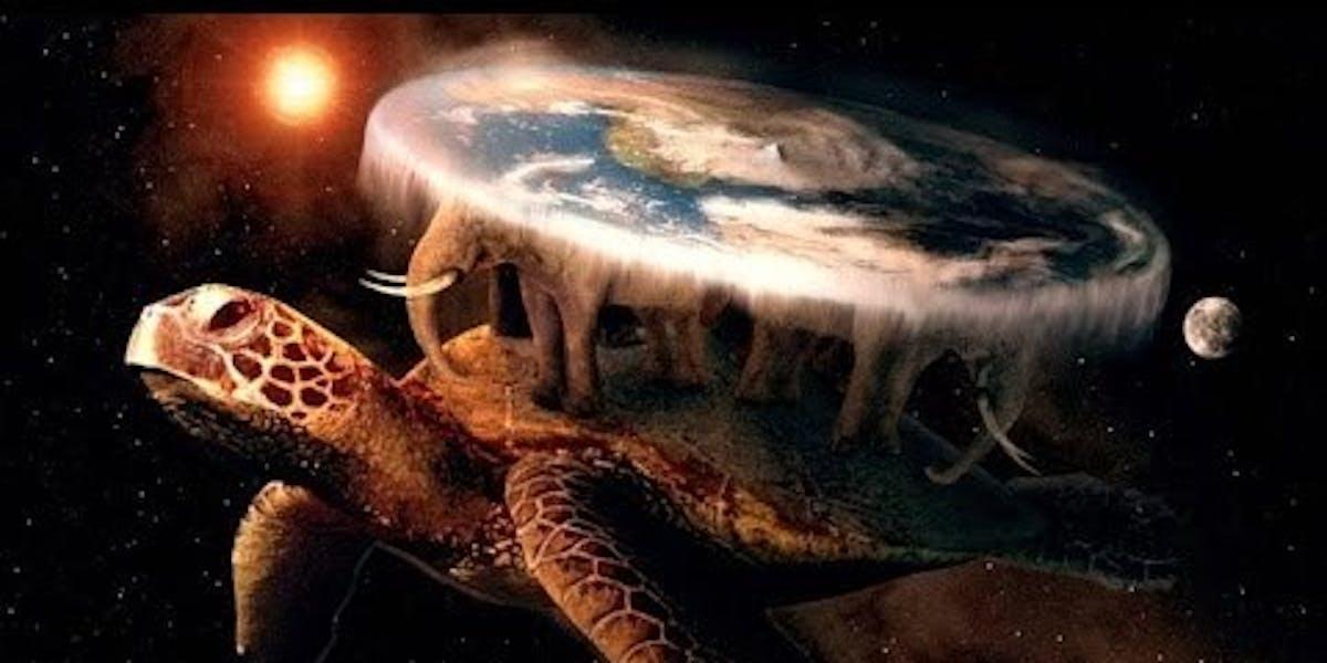 flat earth turtle