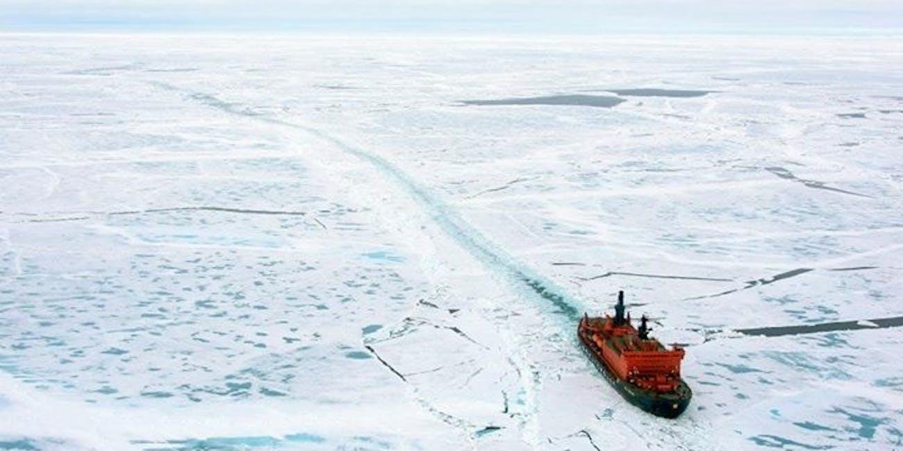 Icebreaker in Arctic