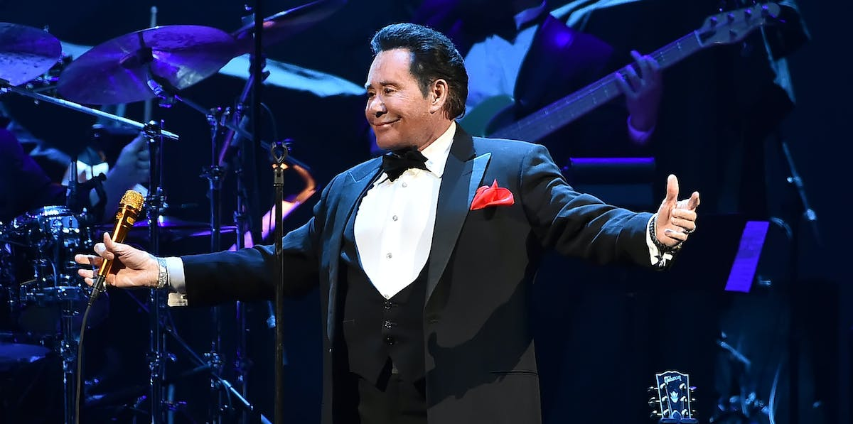Wayne Newton performs onstage during the grand opening of the T-Mobile Arena on April 6, 2016, in Las Vegas.