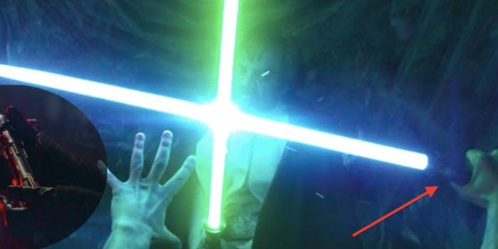 The evolution of Kylo Ren's lightsaber.