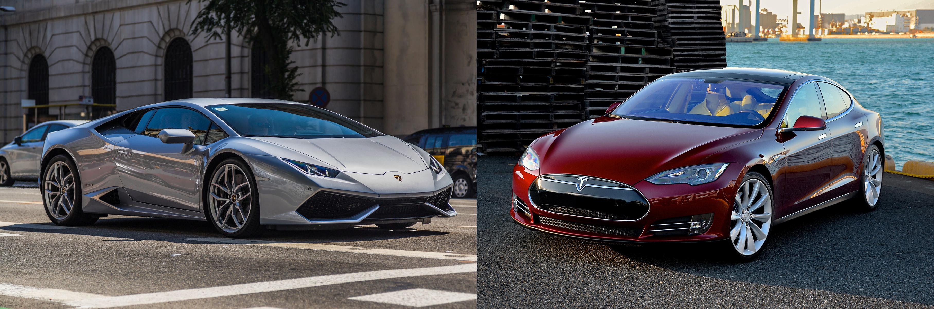 Watch A Tesla Model S Ludicrous P100d Smoke A Lamborghini Huracan In