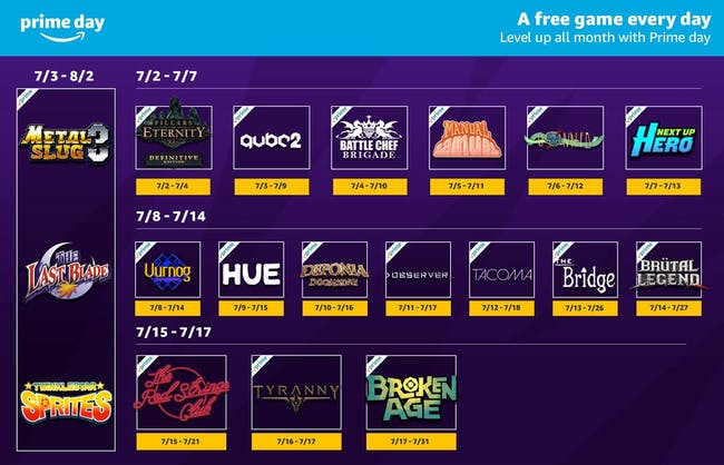 21 free games from Twitch in July on Amazon Prime Day 2018