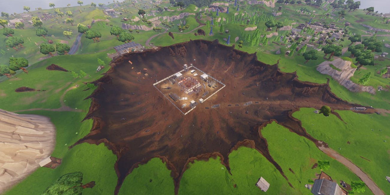 A huge meteor changed the 'Fortnite: Battle Royale' map forever and destroyed Dusty Depot.