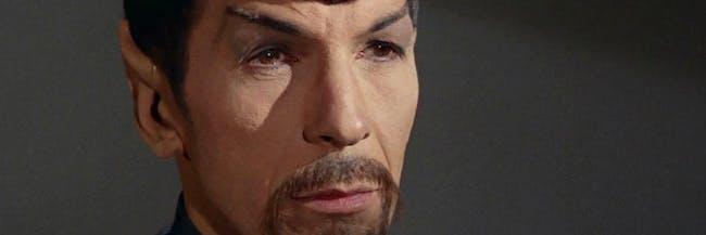 Spock had a beard in the Mirror Universe on 'Star Trek.'