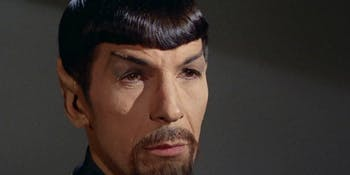 Spock had a beard in the Mirror Universe on 'Star Trek.'