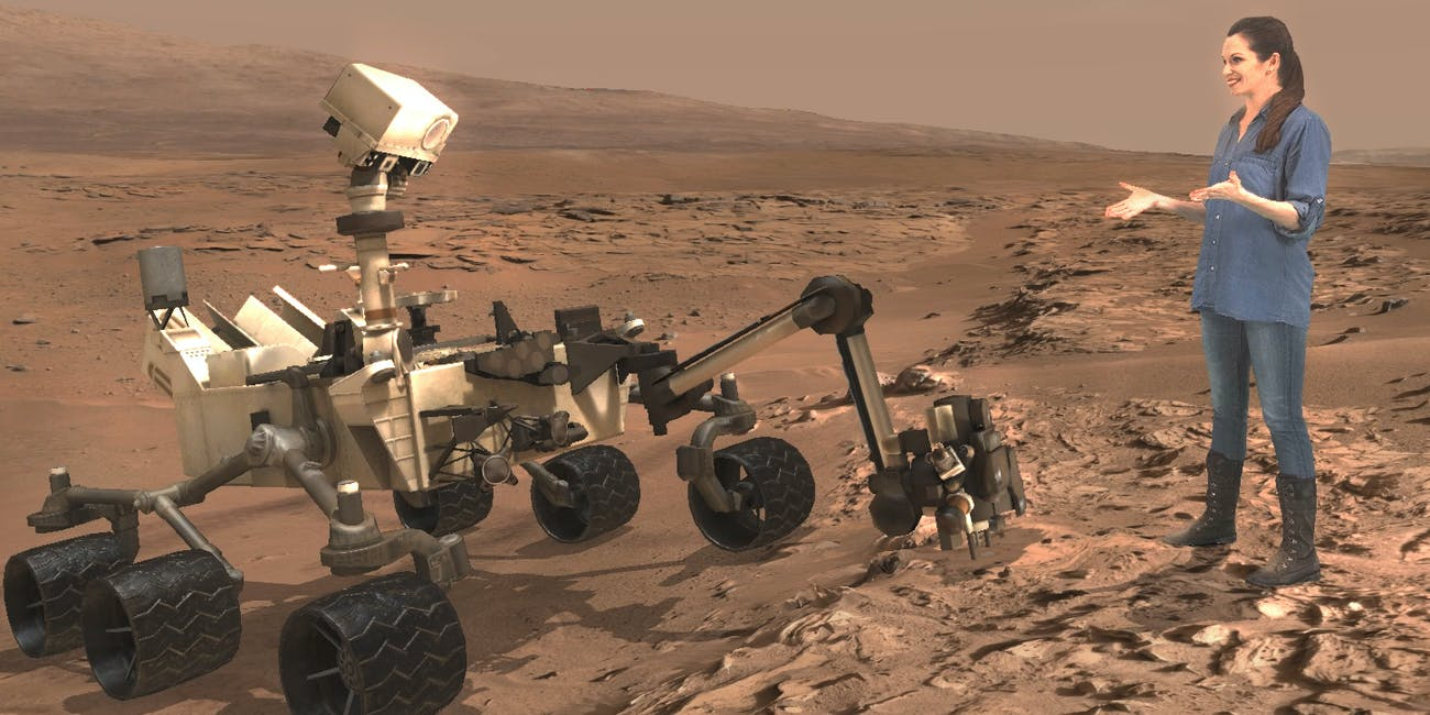 """Erisa Hines, a driver for the Mars Curiosity rover, based at JPL, also talks to participants in """"Destination: Mars."""""""