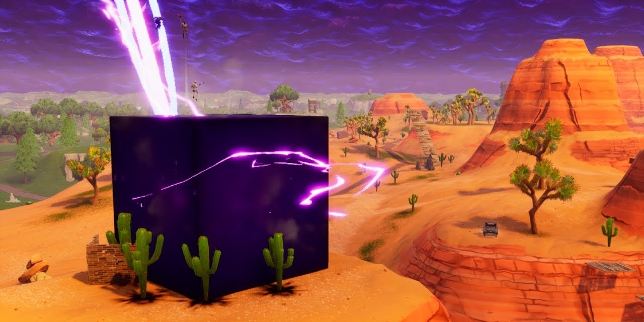 A Giant, Mysterious Cube Just Appeared in 'Fortnite' and It Closed the Rift