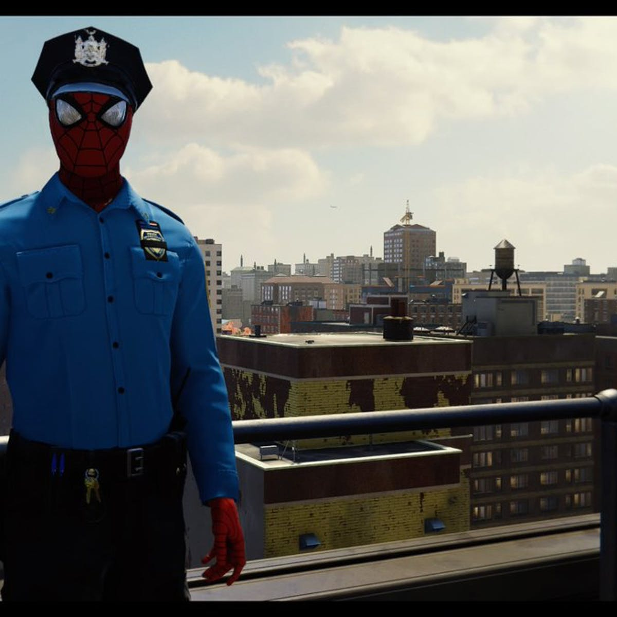 """In Defense of """"Spider-Cop,"""" the Most Charming Joke in 'Spider-Man' PS4"""