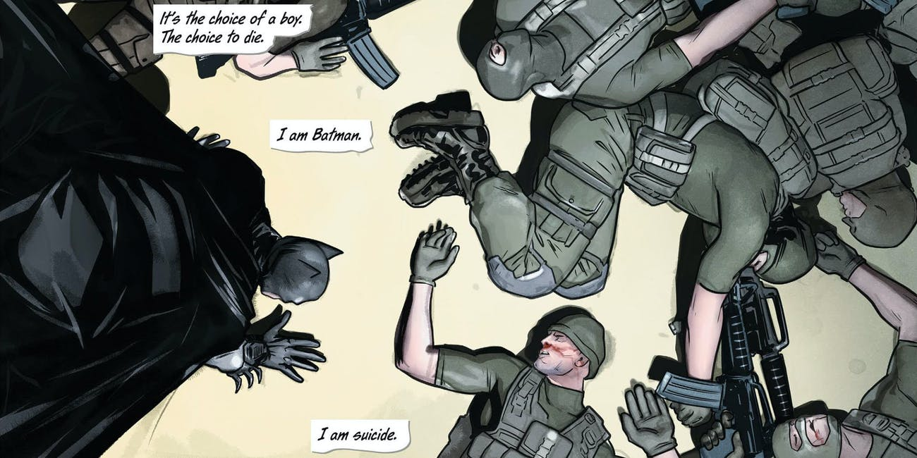 Tom King Says 'I Am Suicide' Self-Harming Fits Batman's