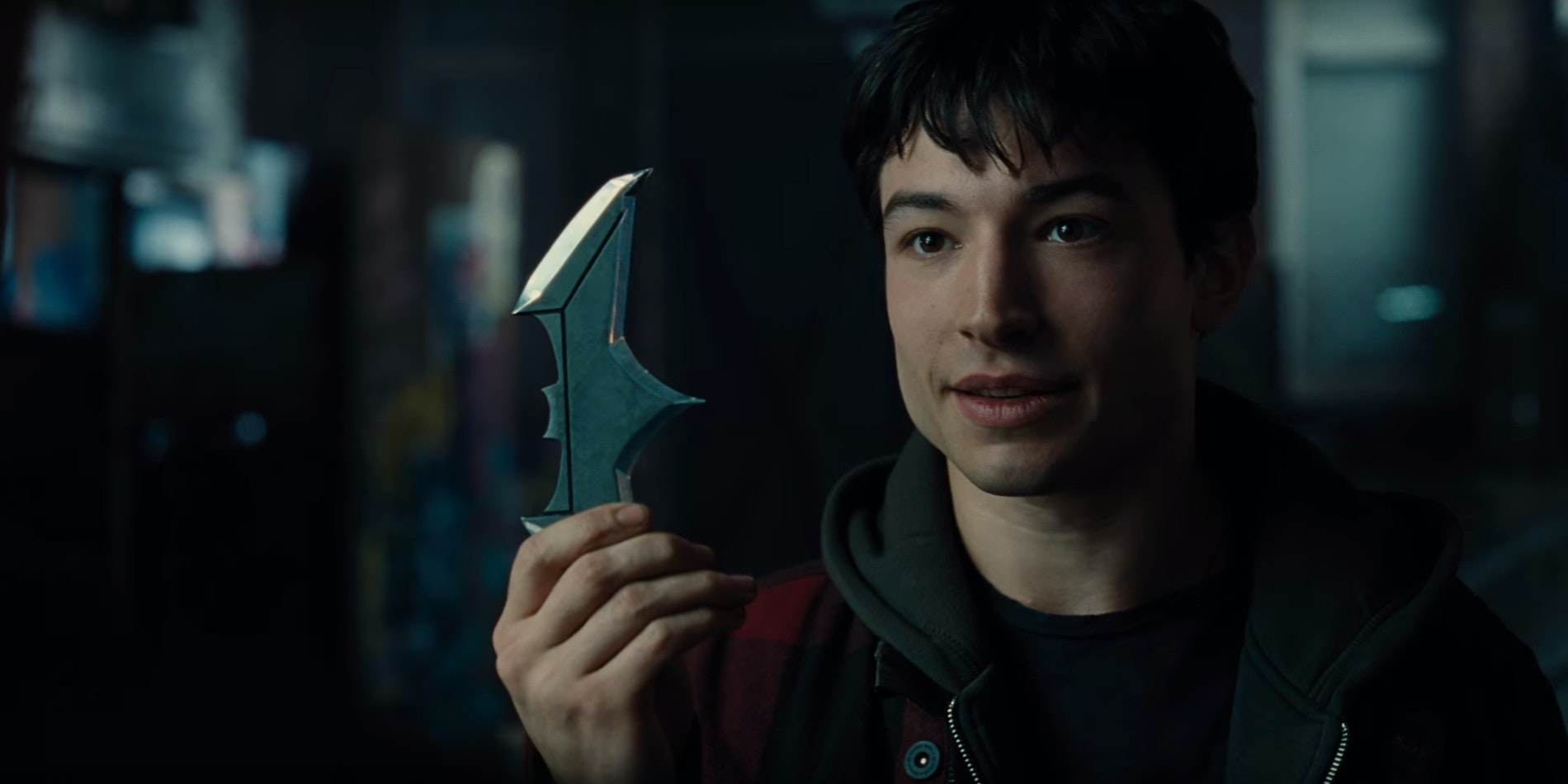 Ezra Miller as The Flash in DC Justice League