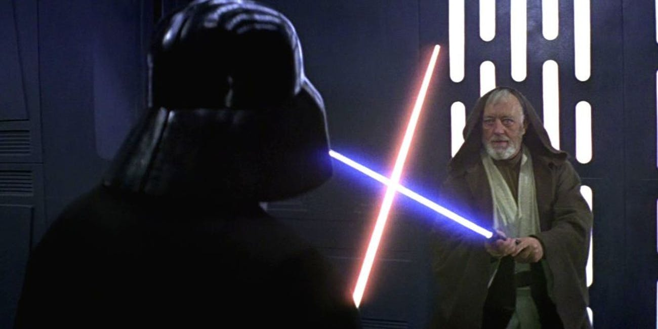 """Image result for obi wan and darth vader and fencing"""""""