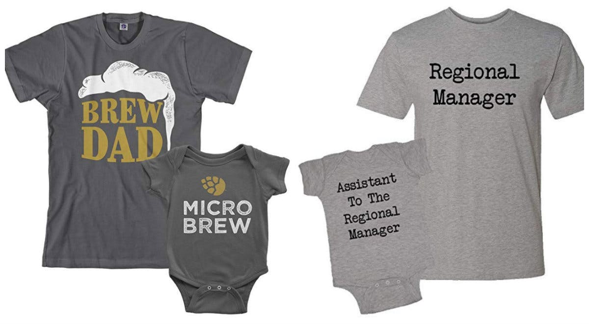 4 Matching Outfits Every Nerdy New Dad & Baby Needs