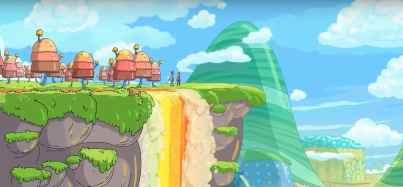 Throopyland looks like something out of a Mario game.