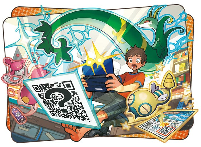QR codes help you discover new pokémon.