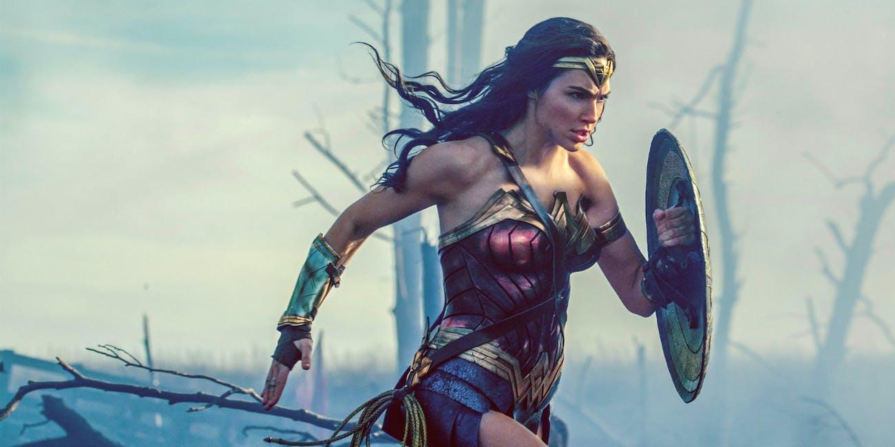 Diana running in No Man's Land in 'Wonder Woman'