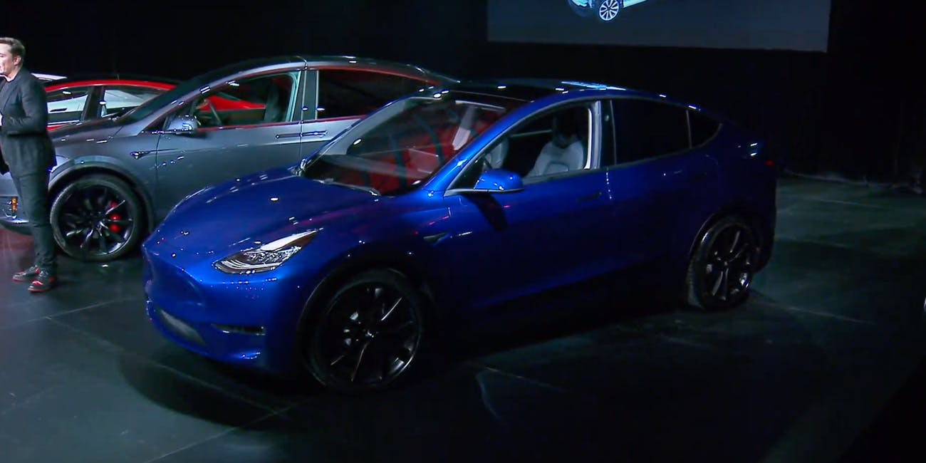 flipboard tesla 39 s model y suv arrives in 2020 and competitors will be waiting. Black Bedroom Furniture Sets. Home Design Ideas