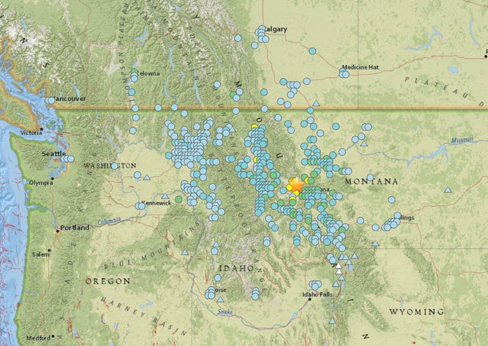 montana earthquake shake stations