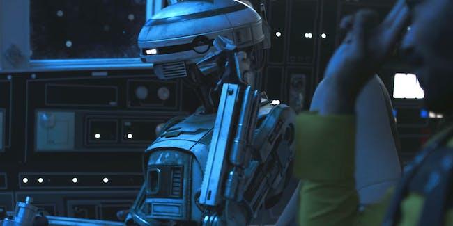 Lando and his co-pilot