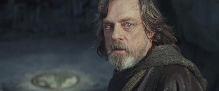 Does Luke ever smile anymore?