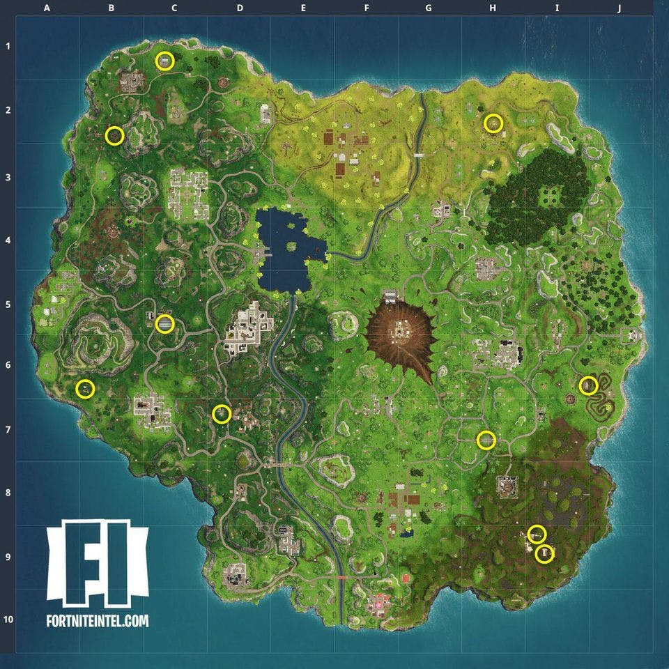 Fortnite 7 Camera Locations And Where To Find Them On The Map