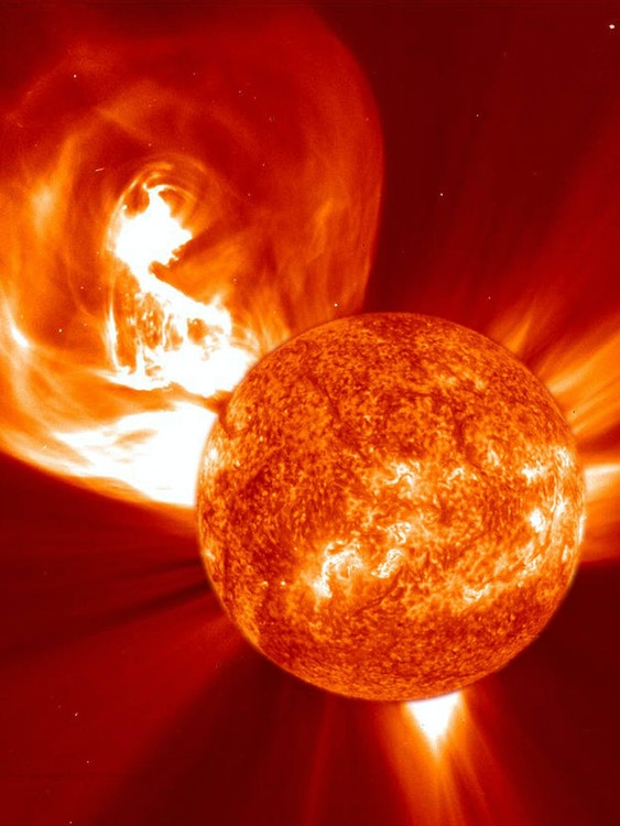 A coronal mass ejection from the sun.