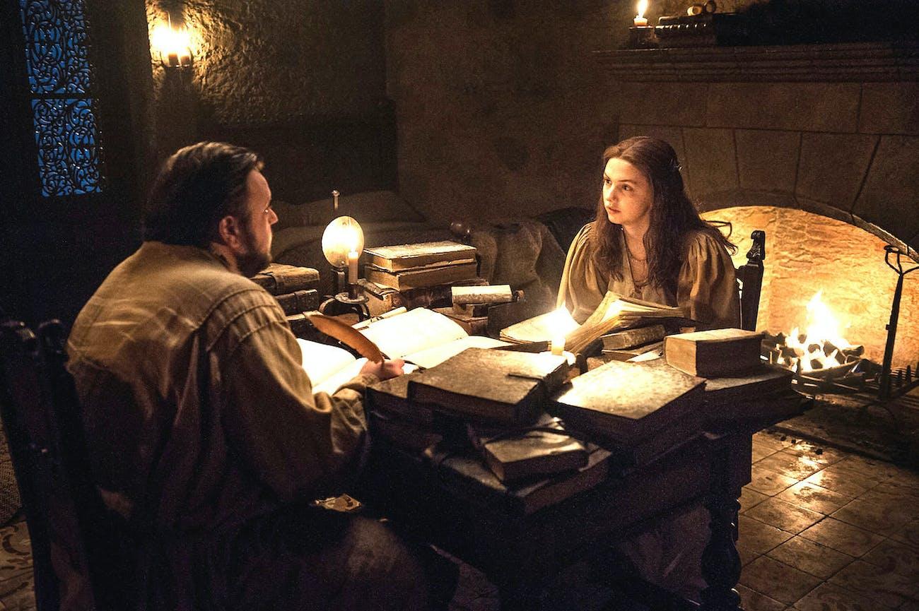 Sam and Gilly reading about Rhaegar Targaryen
