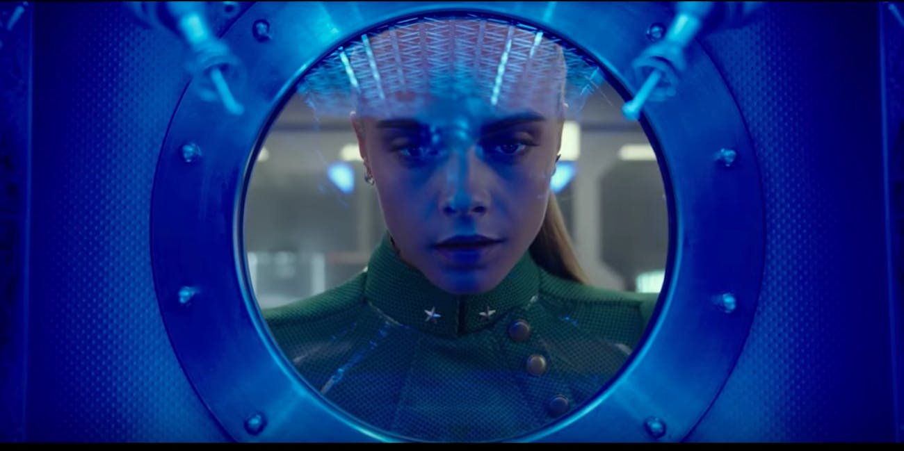 Cara Delevingne in Valerian and The City of a Thousand Planets