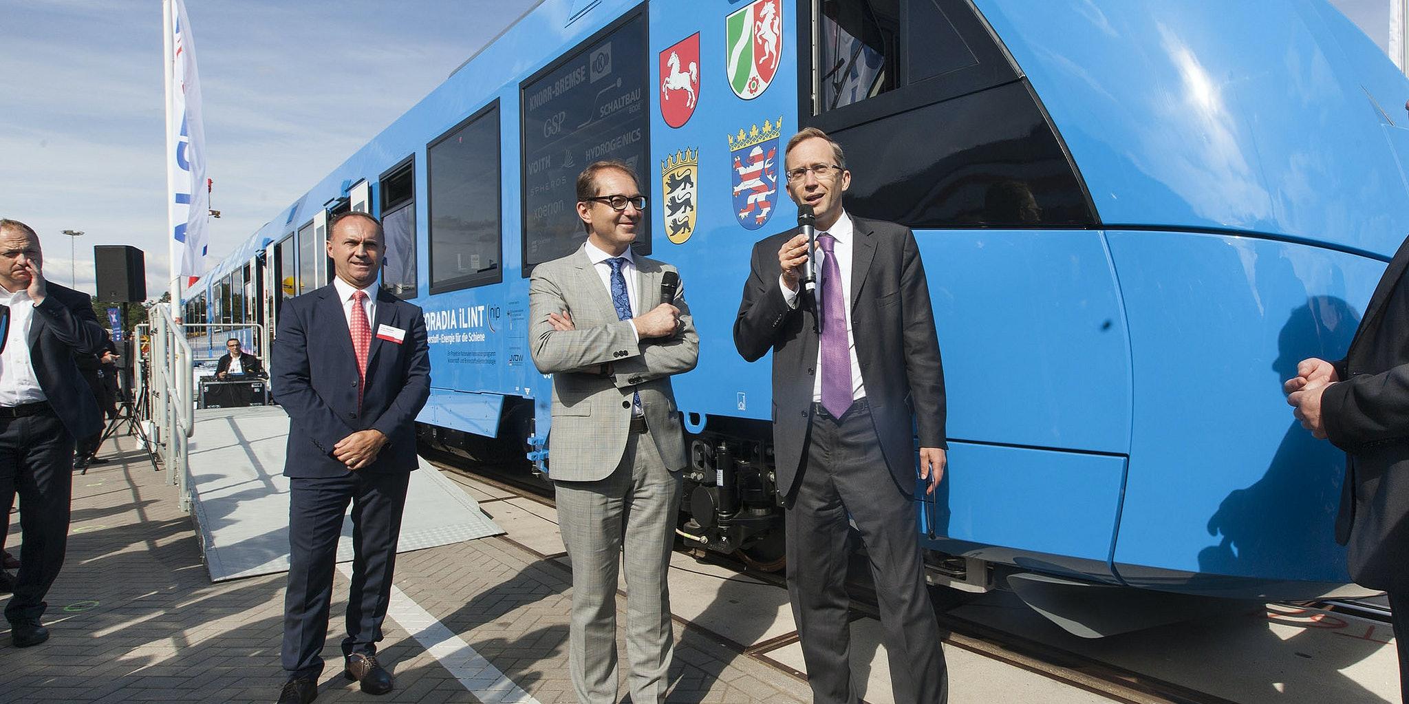 Alstom's Coradia iLint, a hydrogen-powered passenger train.