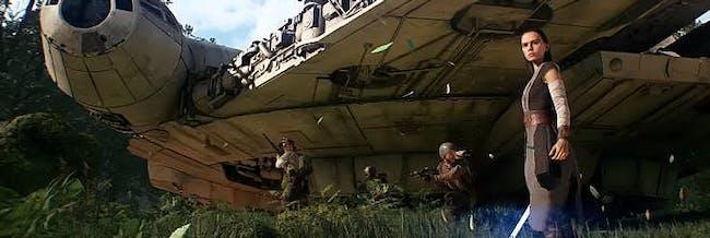 Rey's new look in 'Star Wars: Battlefront II'.