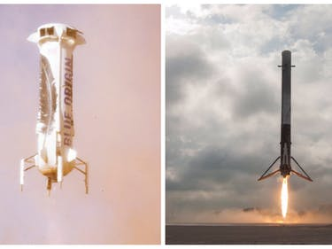 """SpaceX's Foray Into """"Space Internet"""" Fans Flames of Rivalry With Blue Origin"""