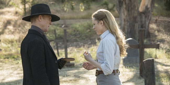 Ed Harri and Evan Rachel Wood in 'Westworld'