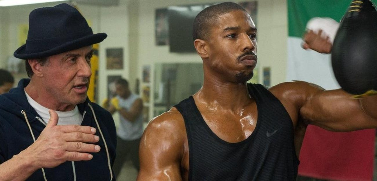 Sylvester Stallone and Michael B. Jordan in 'Creed'.