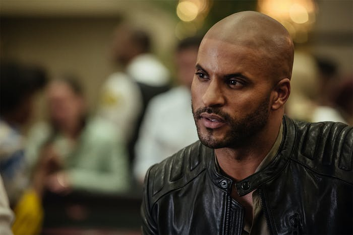 Ricky Whittle as Shadow Moon in 'American Gods' episode 4, 'Git Gone'