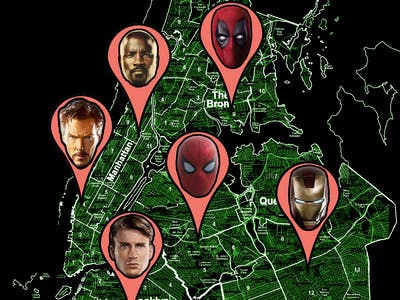 The Most Detailed Online Map of Marvel's New York City