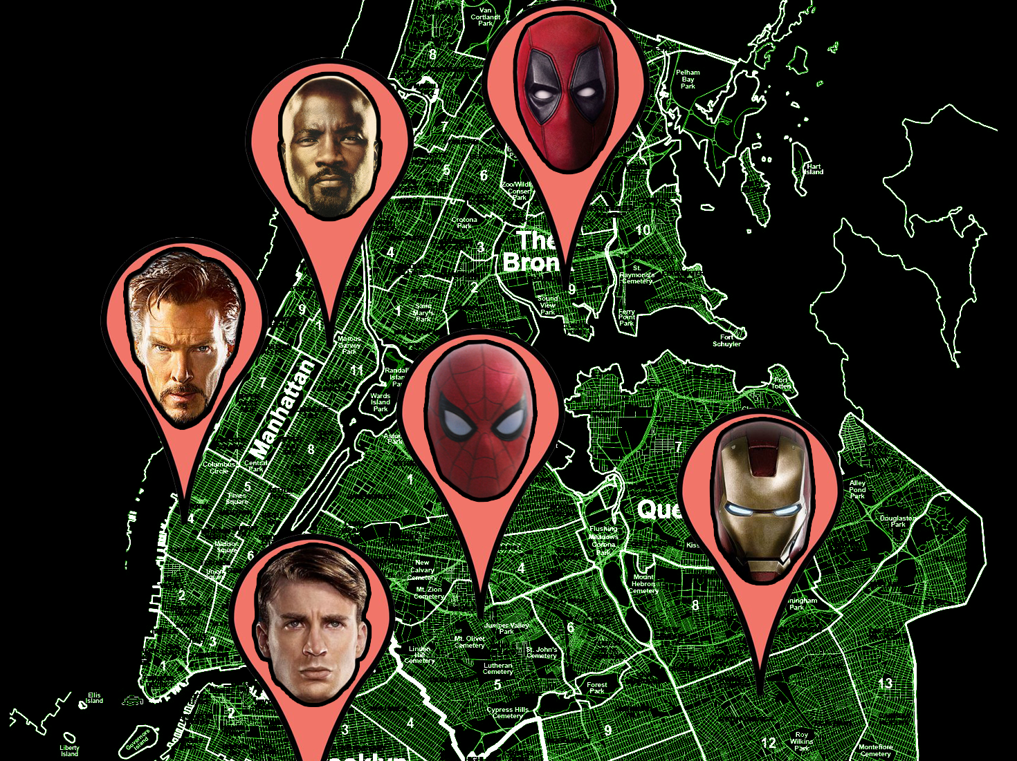 The Definitive Map of Marvel s New York City