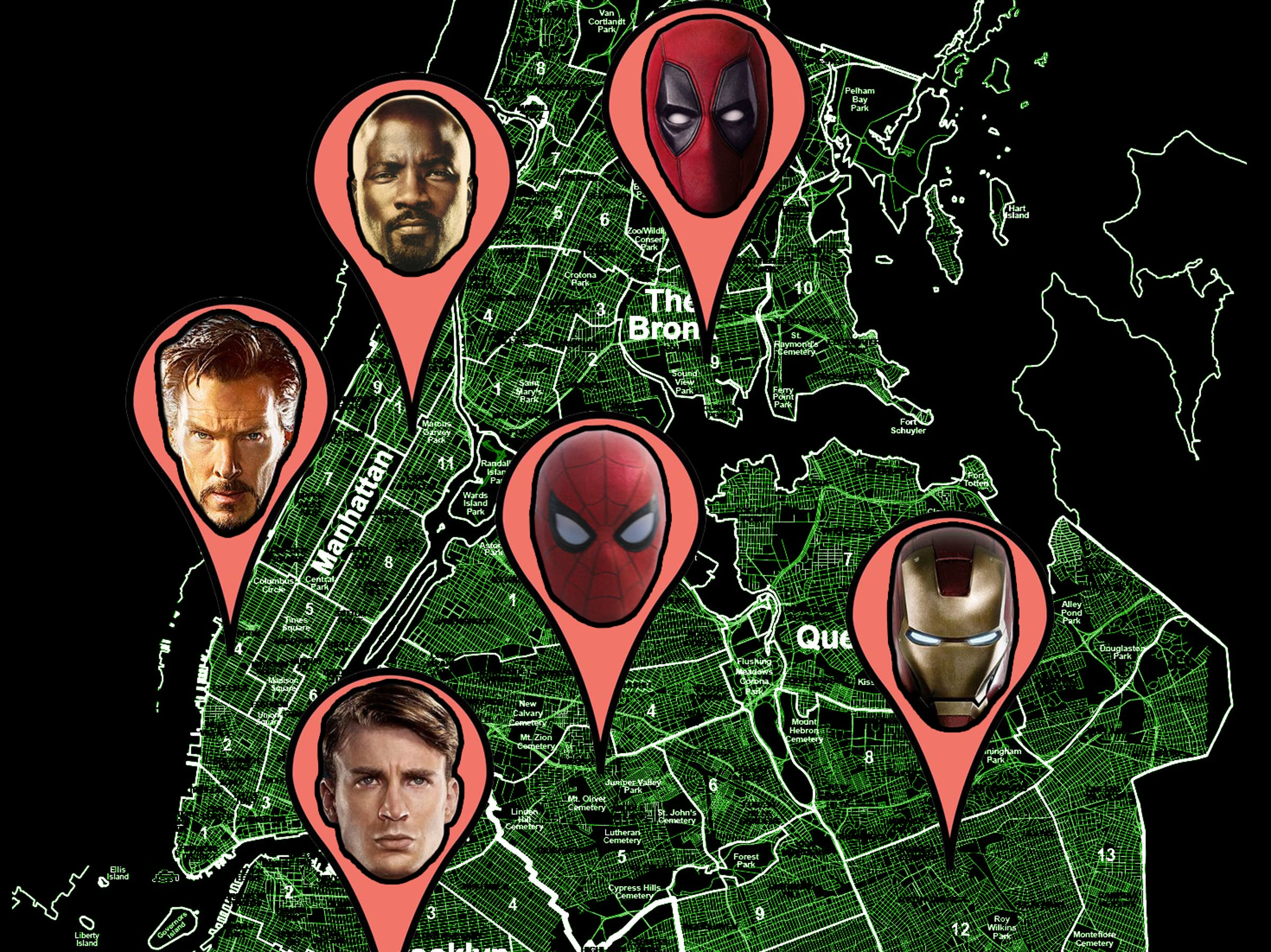 The Definitive Map of Marvel\'s New York City | Inverse