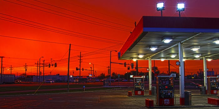 Gas station in Lakin, Kansas