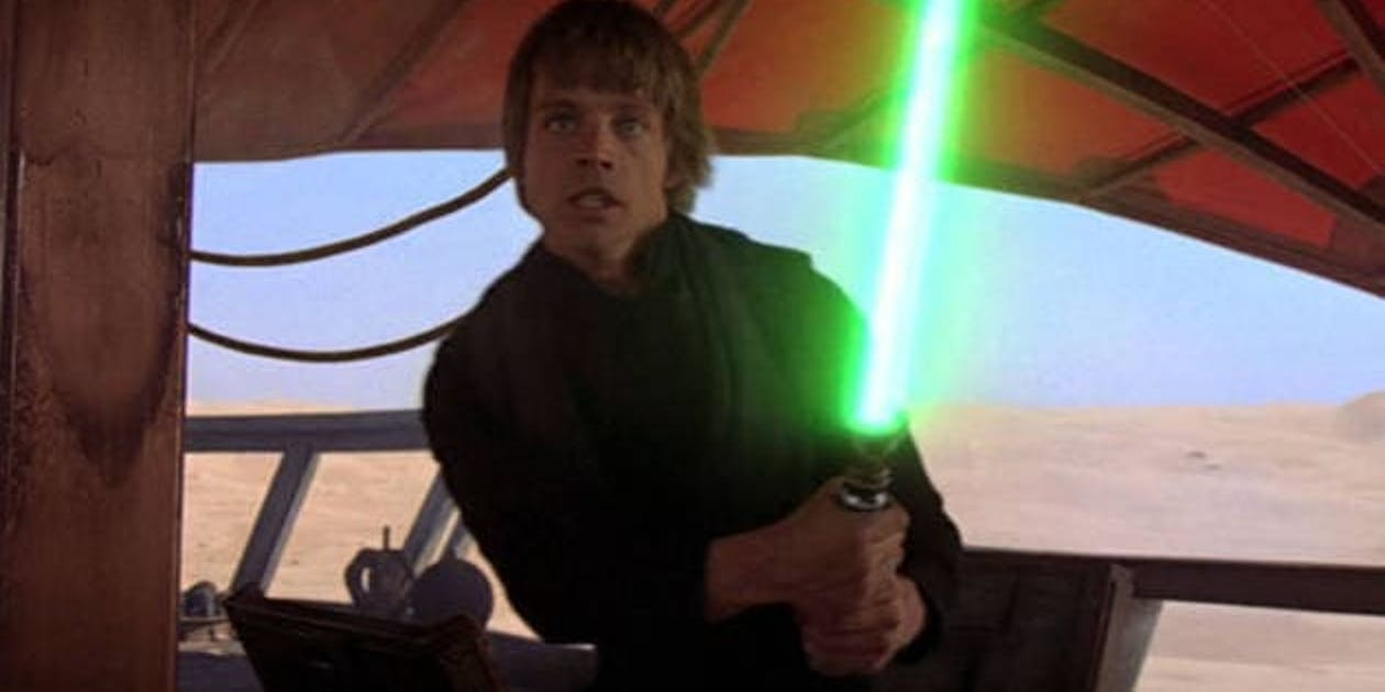 luke green lightsaber return of the jedi