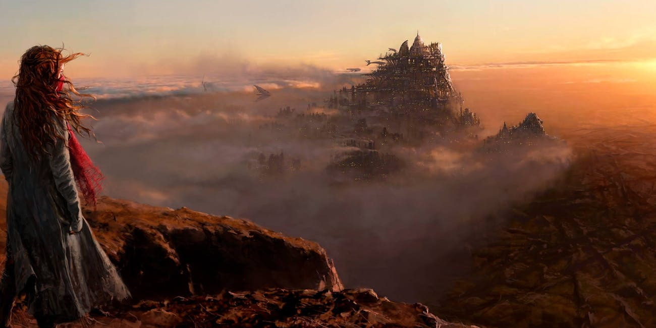 Concept art for 'Mortal Engines' released by Peter Jackson in May 2017.