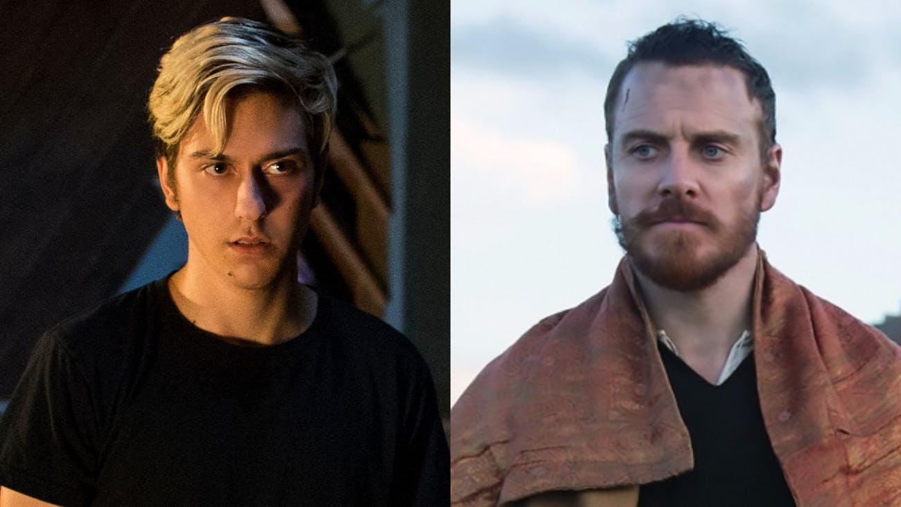 Nat Wolff as Light Turner in 'Death Note' (2017) and Michael Fassbender as Macbeth in 'Macbeth' (2015)