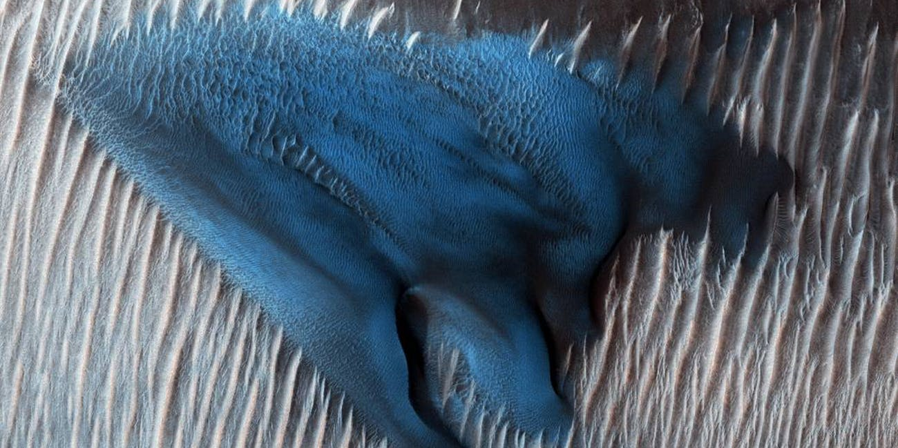 blue dune mars