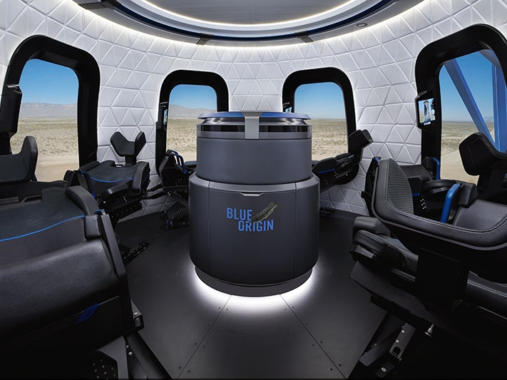 Jeff Bezos Reveals the Inside of the Blue Origin Space Capsule