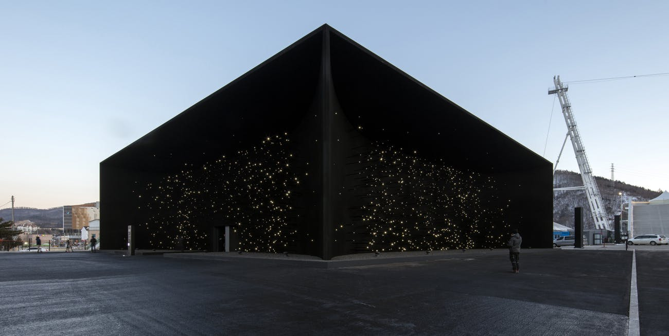 Asif Khan Olympic Pavilion, 2018  © Luke Hayes
